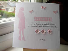 Handmade Personalised Baby Shower Card Mum To Be VARIOUS COLOURS SEE PICS