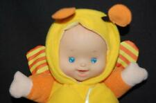 LadyBug Bee Baby Rattle Pacifier Doll Hong Kong City Toy Orange Yellow  Plush 8""