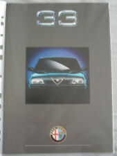 Alfa Romeo 33 range brochure c1991