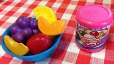 Vintage Little Tikes Fruit Cocktail Pretend Fun With Play Food Kitchen Lot