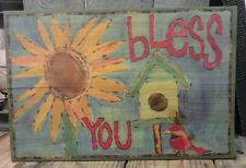 "Painted Peace "" Bless You ""  Wall Plaque - Design by Stephanie Burgess"