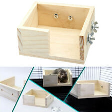 Hamster Bird Cage Wooden Standing Bird Parrot Hamster Play Toy Cage Bed