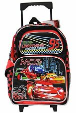 "Disney Lightning McQueen Cars 16"" inches Rolling Backpack for Kids - Licensed"