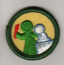 Retired Girl Scouts Junior Badge Patch~2000-2011~Art in the Round~Green Border