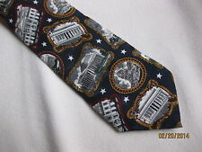 "Washington D C Men's Tie 58"" Americana Series 100% Silk  TANGO U.S.A."