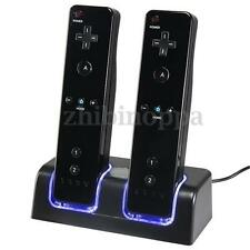New Controller Charger Dock + 2 x 2800mAh Battery for Nintendo Wii Remote