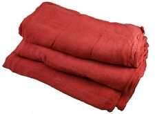2500 INDUSTRIAL COMMERCIAL SHOP RAGS CLEANING TOWELS RED 155# BALE HEAVY DUTY