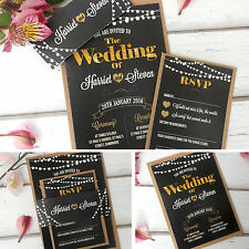 Handmade Wedding Invitations Sleeve & RSVP Cards **SAMPLE** 03