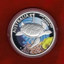 2011 Celebrate Australia - Great Barrier Reef 1oz Silver Proof $1 Coin ANDA