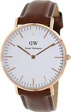 Daniel Wellington Women's Classic St. Mawes Brown Leather Quartz Watch 0507DW