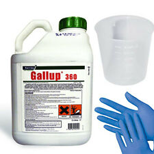 1 x 5L Gallup Amenity 360 Very Strong Glyphosate Weedkiller + Free Cup & Gloves