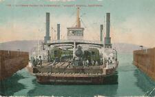 Benicia CA * Ferry Boat Solano  Southern Pacific 1909 RR Train