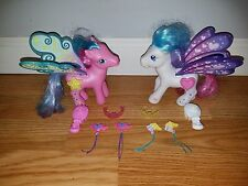 MLP My Little Pony 2006 Pegasus Star Flight and Heart Bright 100% Complete