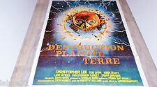 DESTRUCTION PLANETE TERRE   !  christopher lee affiche cinema