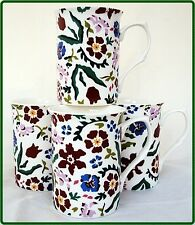 Wild Flower Meadow Mugs Set of Four Fine Bone China Floral Mugs Decorated in UK