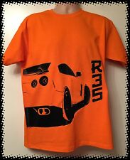 ORANGE Nissan GTR R35 Carbon Fibre T-shirt Tee JDM Size MEDIUM