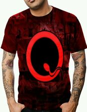 ALLOVER PRINT MULTI-COLOR QUEENS OF THE STONE AGE GRAPHIC T-SHIRT!