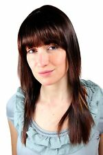 Sexy Wig brunette with blonde Strands smooth Hair Fringe 9214-2733-27 55cm