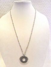 LUCKY BRAND NECKLACE SUN AND MOON PENDANT, MOTHER OF PEARL CENTER, NWT