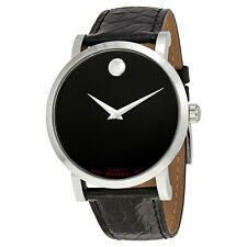 Movado Red Label Automatic Black Dial Stainless Steel Mens Watch 0606112