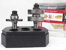 "Freud 99-036 2-pc Adjustable Tongue & Groove Router Bit Set -- NEW -- 1/2"" shank"
