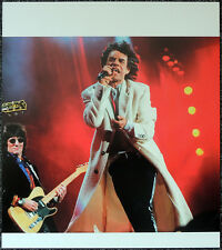 THE ROLLING STONES POSTER PAGE 1997 MICK JAGGER & RON WOOD . Y94