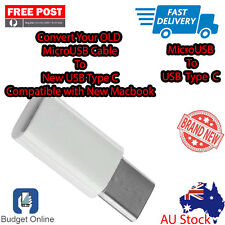White Micro USB Female To USB 3.1 Type C Male Adapter Free Shipping From Melb