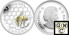 2013 Bee and Hive-Animal Architect' Prf $3 Colored Silver Coin .9999 Fine(13189)