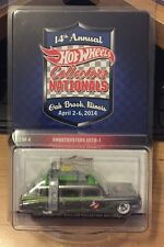 Hot Wheels 14th Nationals 2014 Convention Ghostbusters Ecto-1 Zamac Slime #/2600
