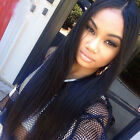 #1b Black Long Straight lace front Lace full wig Synthetic Long high quality
