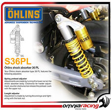 Ohlins HD908 S36PL Lunghezza 360 +10/-0mm Ammortizzatori Gialle Harley XR 1200