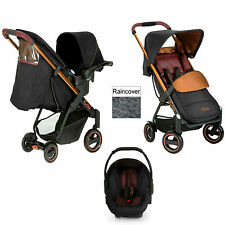 New Hauck Icoo Acrobat Shop N Drive Travel System pushchair+carseat Copper BLACK