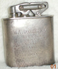 Vintage Karl Wieden KW Brevet Engraved w/Name Table Top Lighter, WW2 Military