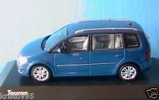 VW VOLKSWAGEN TOURAN 2007 BLUE METALLIC MINICHAMPS 1/43