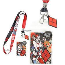 DC Comics Harley Quinn Bombshells Forever Evil Lanyard ID Card Holder & Charm