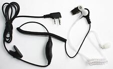 FBI Clear Tube Headset Earpiece IC-F3G/F4G IC-F33G/F43G IC-F34G/F44G