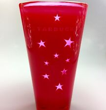 Starbucks Red Plastic Acrylic Tumbler Cup 2003 Star Pattern 20 oz RARE Insulated