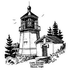 PEDDLER'S PACK RUBBER STAMPS CAPE MEARES LIGHTHOUSE NEW STAMP
