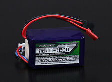 New Turnigy nano-tech 1700mAh 2S 20C Battery LiFePo4 Receiver RX JST 6.6v Futaba