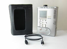 VINTAGE COLLECTOR SONY TCD-D100 DAT WALKMAN w/ORIGINAL CASE•GREAT CONDITION•NICE