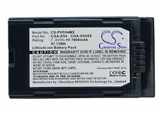 7.4V Battery for Panasonic AG-DVC180A AG-DVC30 AG-DVC30E CGA-D54 Premium Cell