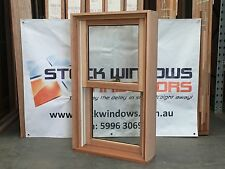 Timber Double Hung Window 1025h x 606w Double Glazed Clear IN STOCK NOW HARDWOOD