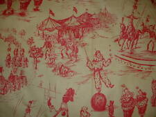"Vintage 27"" Piece  SCHUMACHER Circus Toile Red/Yellow Curtain Decor Fabric"