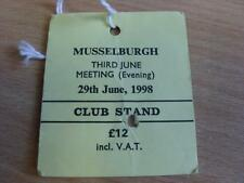 29/06/1998 Musselburgh Races - Horse Racing Badge (folded)