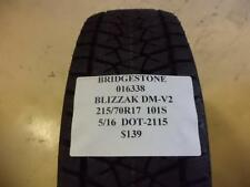 2 BRIDGESTONE BLIZZAK DM-V2 215 70 17 101S BRAND NEW WINTER TIRES 016338