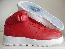 NIKELAB AIR FORCE 1 MID GYM RED-WHITE SZ 14 [819677-600]