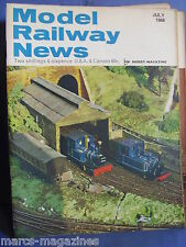 MODEL RAILWAY NEWS JULY 1968 BELPAIRE DAVIDPORT FREDSTON SANDHURST JOINT DOUGLAS