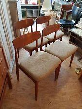 4 x Teak Stühle Casala Leder Designklassiker Vintage Dining Chairs Danish Style