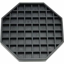 "Coffee Counter-top Octagon Drip Tray - 6"" - Black free shipping"