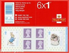 PM52 2016 6 x 1st Beatrix Potter Self Adhesive Booklet